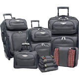 Travelers Choice 8pc Luggage Set $90 +FS