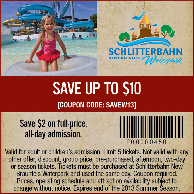 Up to $10 off New Braunfels Water Park Admission