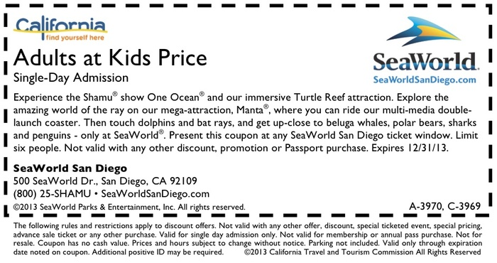 Adults at Kids Price Admission Single Day Admission - Printable
