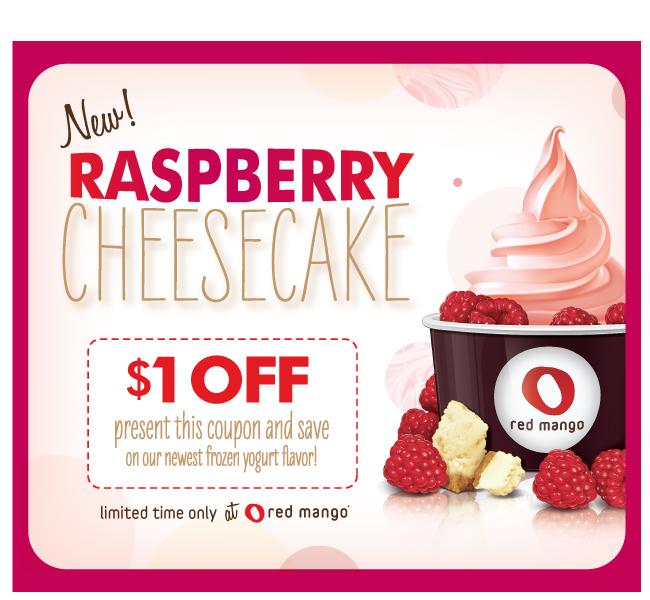 $1 off Raspberry Cheesecake - Printable