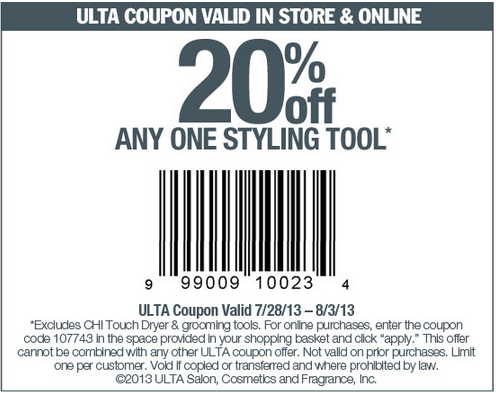 20% off One Styling Tool
