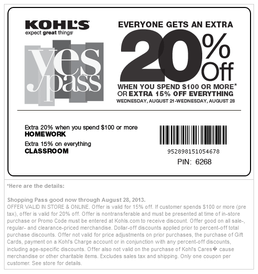 Up to 20% off (Printable)