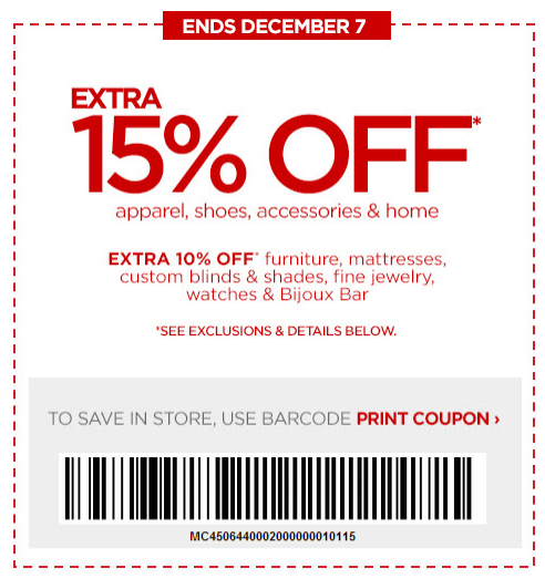 JCPenney Printable Coupons: 15% off (Printable)