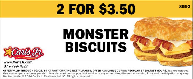 2 for $4 Monster Biscuits (Printable)