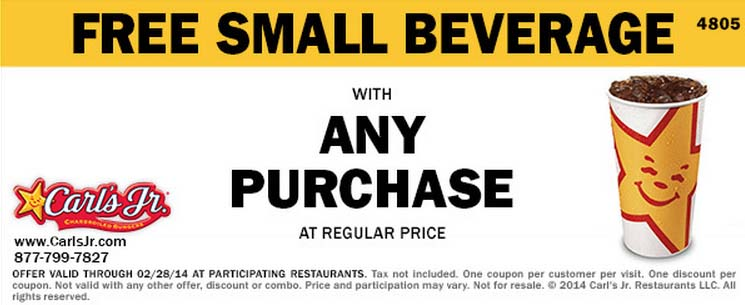 Free Small Beverage with Any Purchase (Printable)