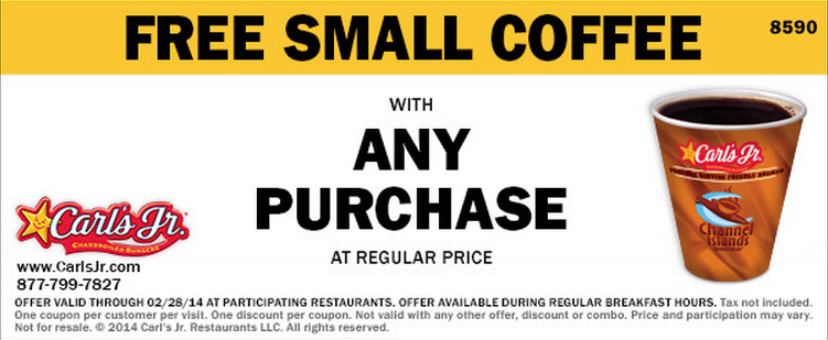 Free Small Coffee with Any Purchase (Printable)