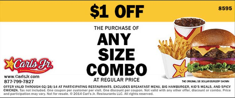 $1 off Any Size Combo (Printable)