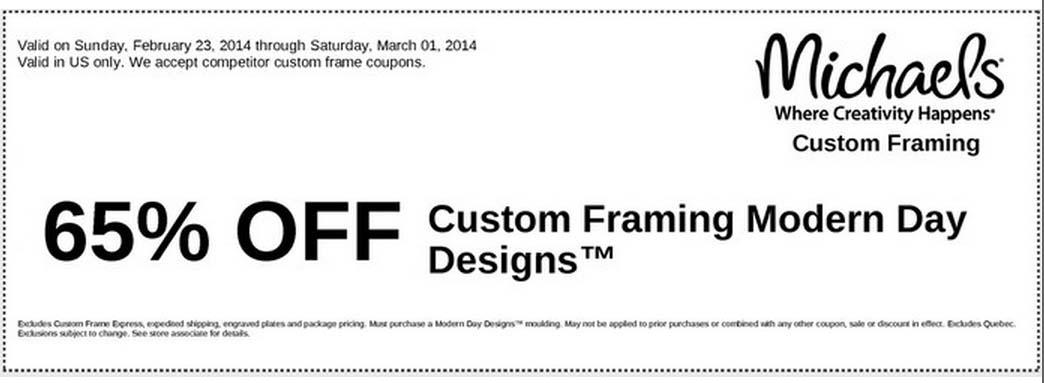 65% off Custom Framing Modern Day Designs (Printable)