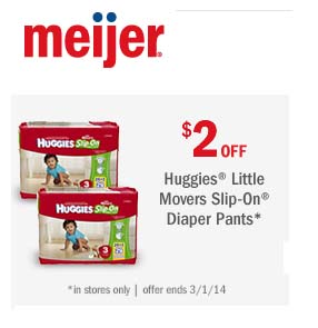 $2 off Huggies Little Movers Slip-On Diaper Pants (Printable)