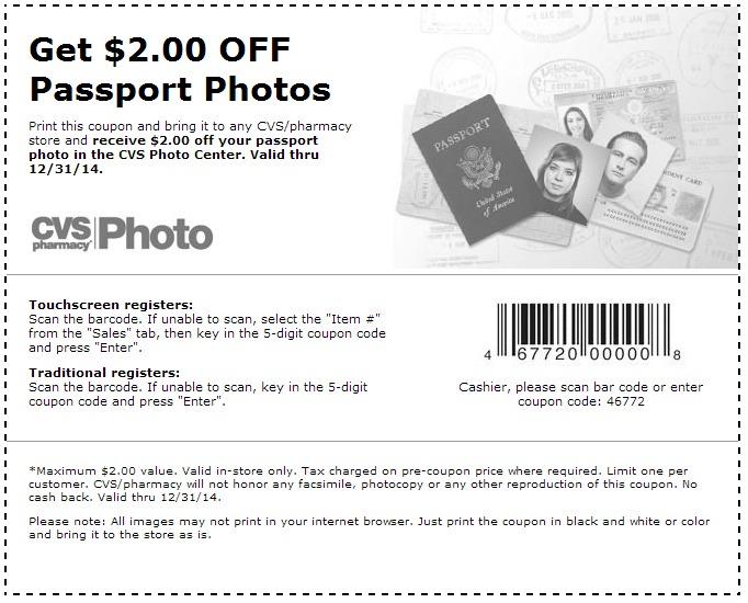 $2 off Passport Photos (Printable)