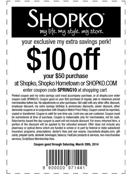 $10 off $50 (Printable)
