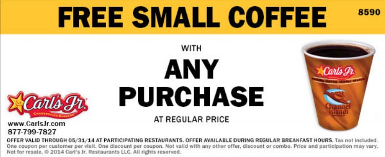 Free Small Coffee with Any Regular Price Purchase (Printable)