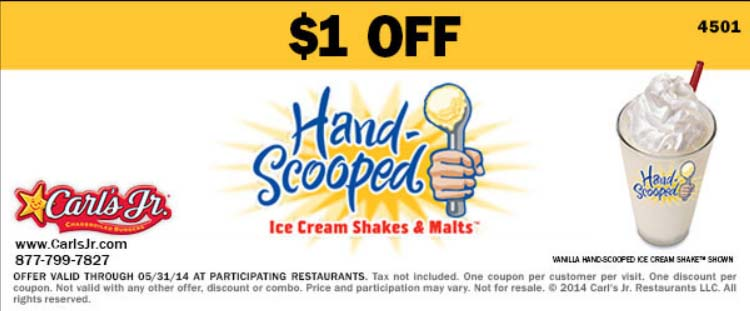 $1 off Shakes & Malts (Printable)